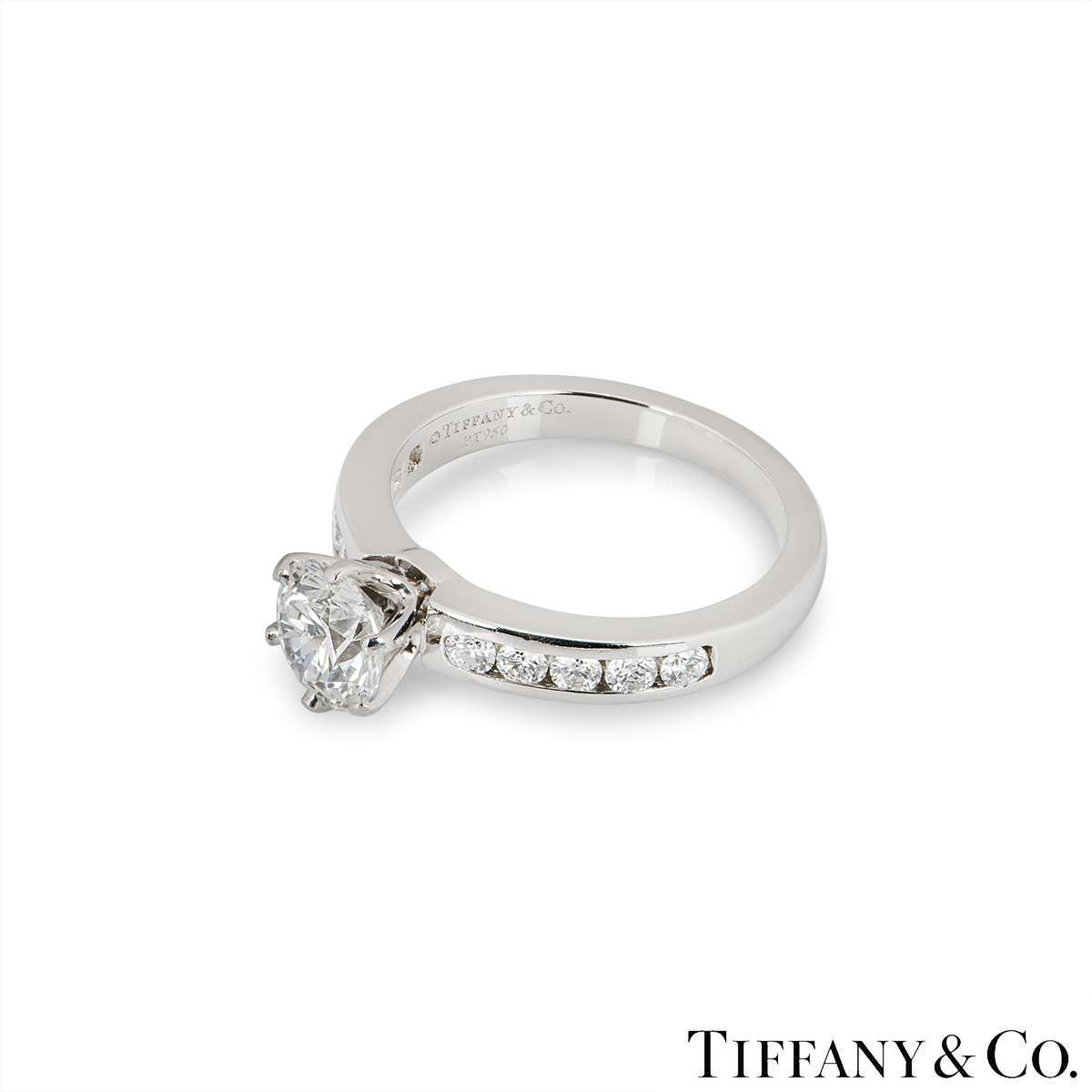 Tiffany & Co. Platinum Diamond Ring 1.04ct G/VS1 XXX